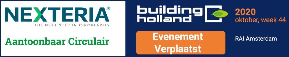 Update: Building Holland is vanwege het coronavirus verplaatst naar week 44, oktober 2020. Klik hier of op de onderstaande banner voor meer informatie. We begroeten u graag in oktober op onze stand!